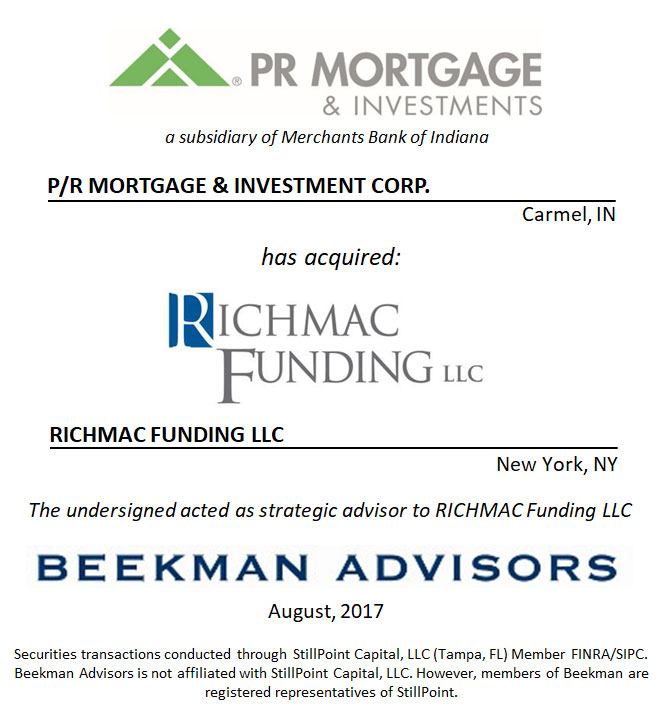 P/R Mortgage & Investment Corp. and RICHMAC Funding LLC